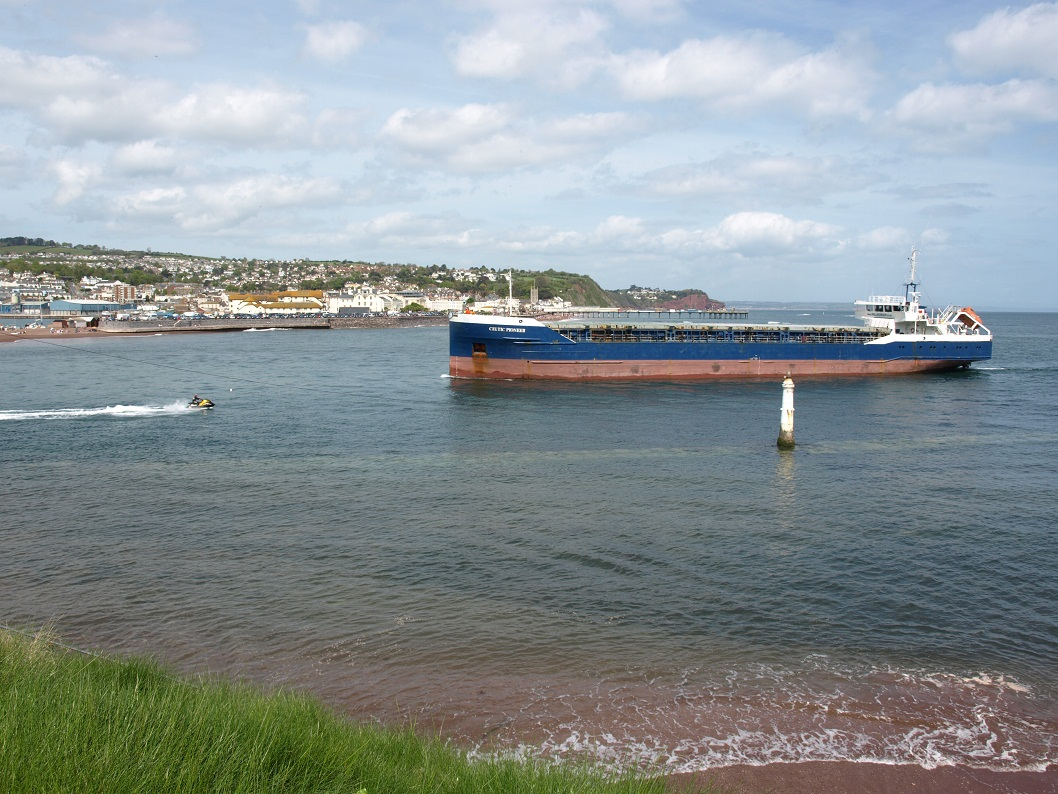 Tanker at harbour entrance