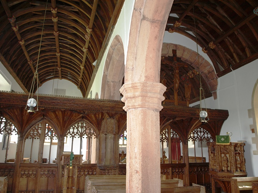Dunchideock church interior