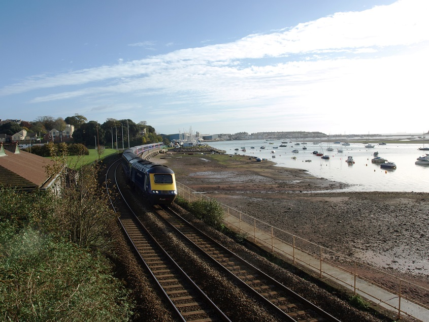 Railway from Shaldon Bridge
