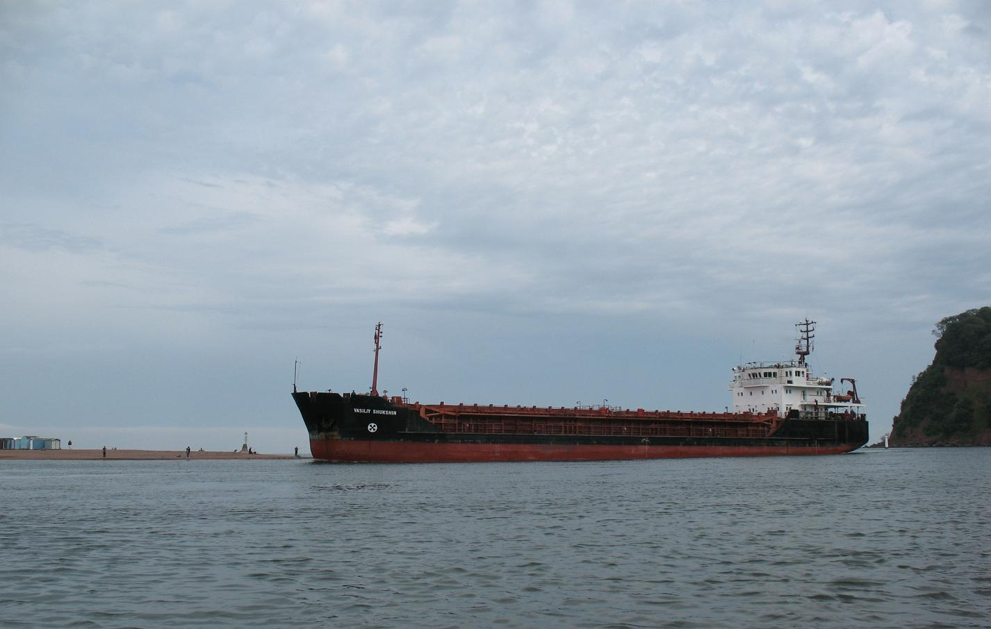 Tanker inside harbour