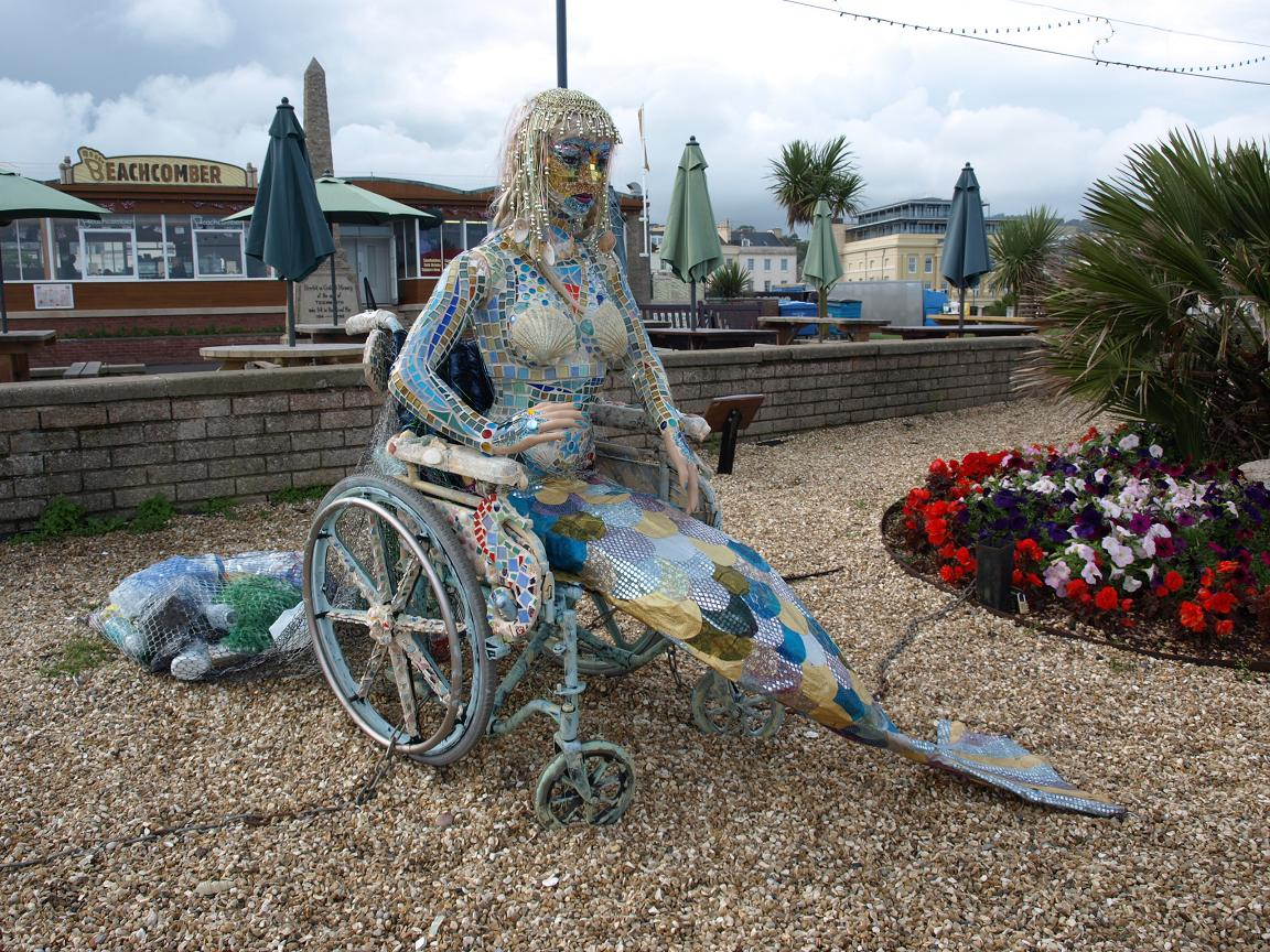 Teignmouth sculpture - mermaid